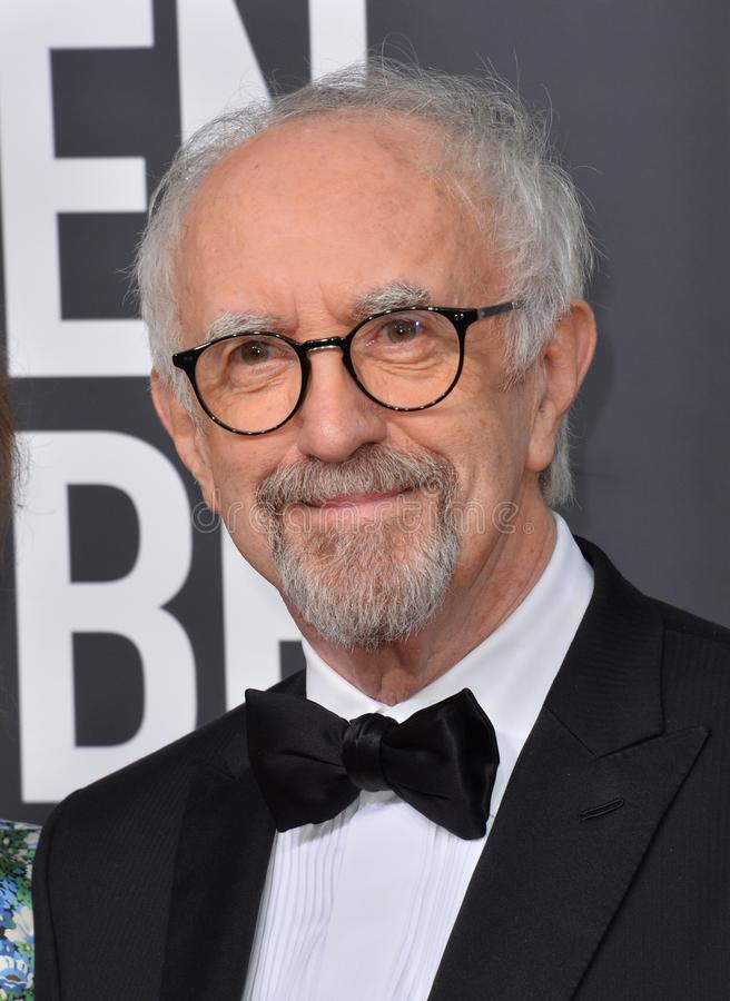 Jonathan Pryce. LOS ANGELES, USA. January 06, 2020: Jonathan Pryce arriving at the 2020 Golden Globe Awards at the Beverly Hilton Hotel..Picture: Paul Smith/ stock image