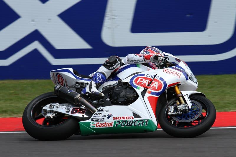 Jonathan Rea #65 em Honda CBR1000RR com Superbike WSBK de Pata Honda World Superbike Team foto de stock royalty free
