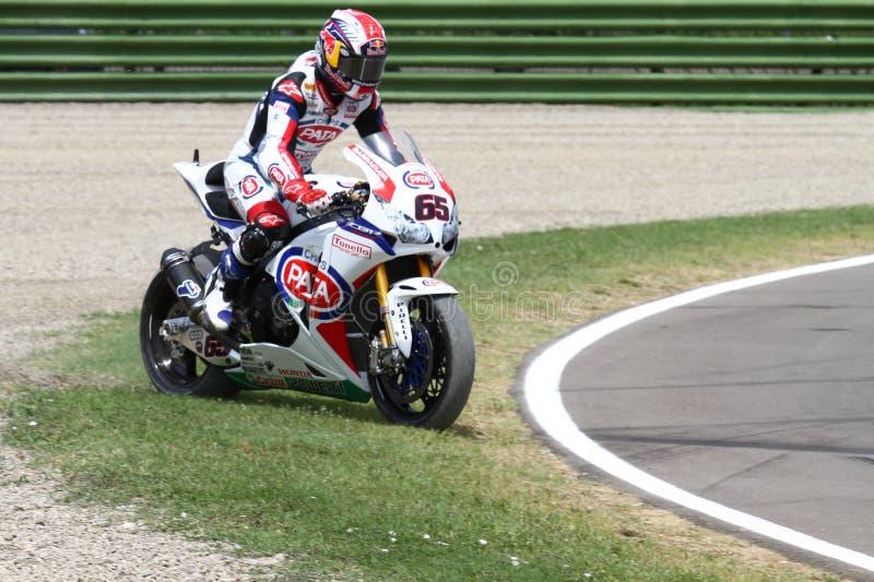 Jonathan Rea #65 em Honda CBR1000RR com Superbike WSBK de Pata Honda World Superbike Team foto de stock