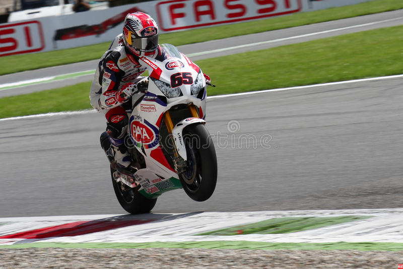 Jonathan Rea #65 en Honda CBR1000RR con el Superbike WSBK de Pata Honda World Superbike Team imagen de archivo