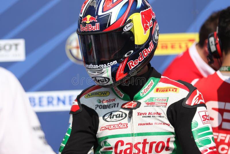 Jonathan Rea - Honda CBR1000RR - Castrol Honda immagini stock libere da diritti