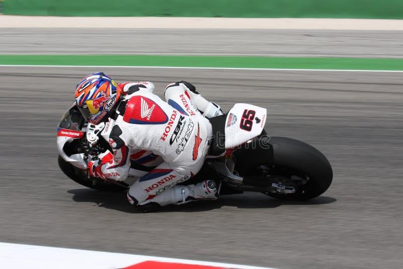 Jonathan Rea - Honda CBR1000RR - mondo della Honda eccellente fotografia stock libera da diritti