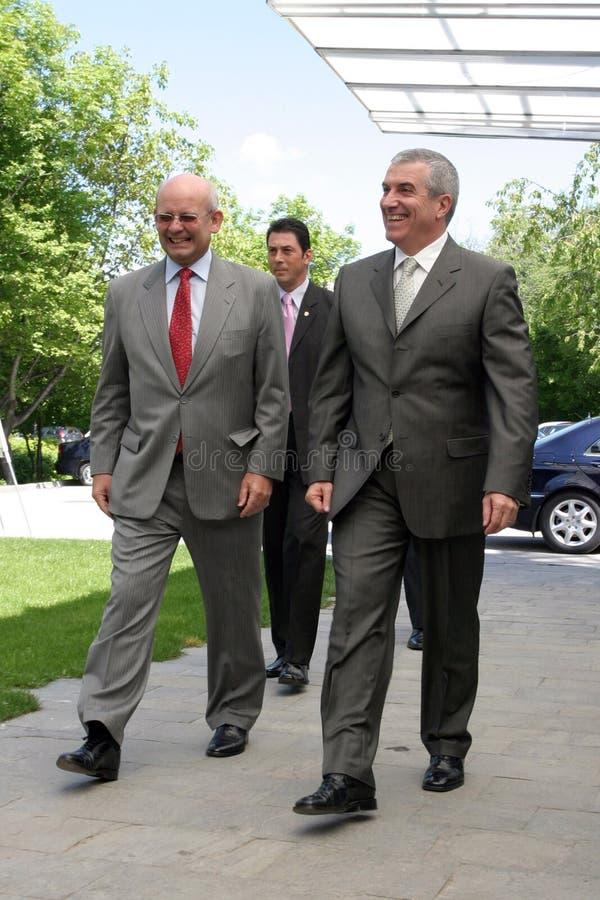 Jonathan Scheele And Calin Popescu Tariceanu Editorial Stock Photo