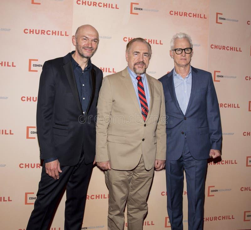 Jonathan Teplitzky, Brian Cox och John Slattery royaltyfri foto