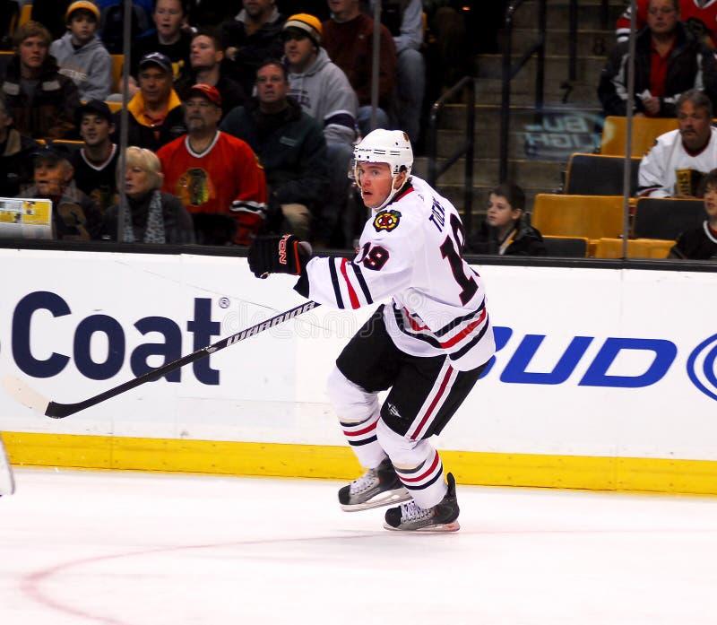 Jonathan Toews Chicago Blackhawks. Chicago Blackhawks forward and captain Jonathan Toews #19 stock photos