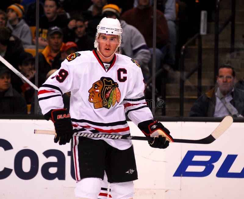 Jonathan Toews Chicago Blackhawks. Blackhawks team captain Jonathan Toews #19 royalty free stock photo