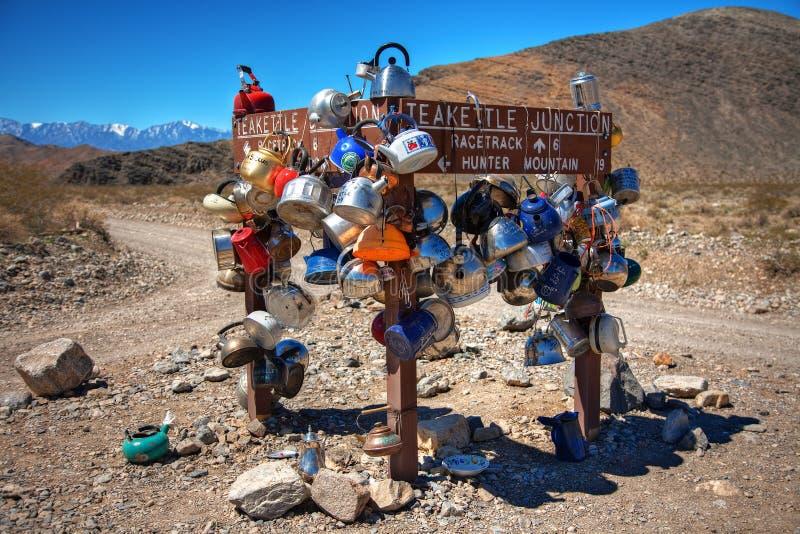 Jonction de bouilloire en stationnement national de Death Valley image libre de droits