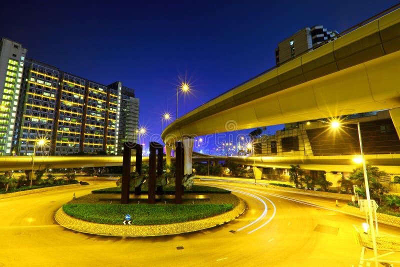 Jonction de route avec l'autoroute photo libre de droits