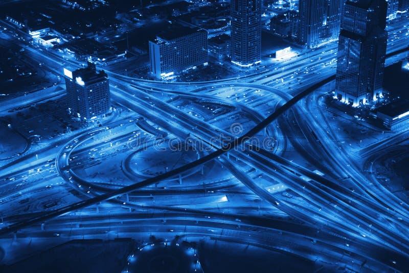 Jonction de route de transport. photos libres de droits