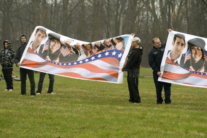 jones ύφασμα διαμαρτυρίας στοκ φωτογραφία