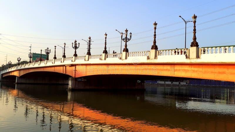 Jones Bridge with the new lamp posts stock image