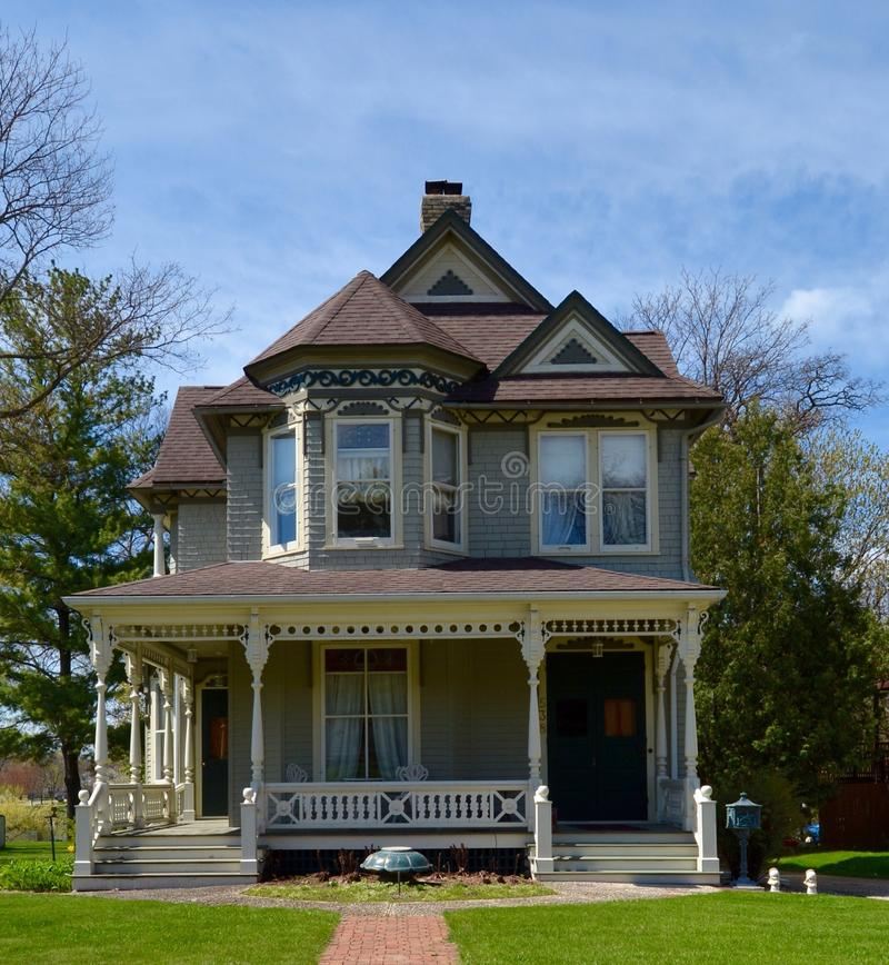 Jones House. This is a Spring picture of the John H. Jones House located in Janesville, Wisconsin. The house built in 1890 is an example of the Queen Ann style royalty free stock images