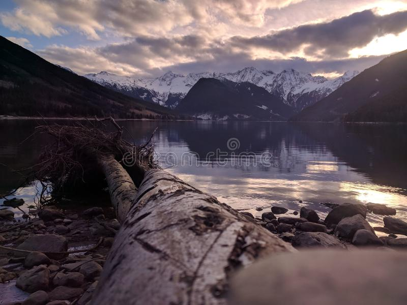 Jones Lake British Columbia arkivfoton