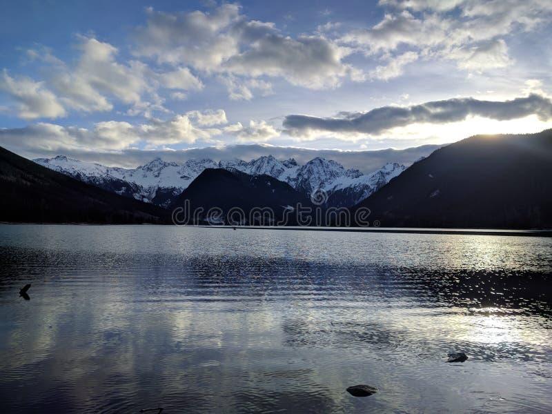 Jones Lake British Columbia arkivbild