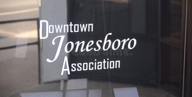 Jonesboro van de binnenstad, de Vereniging van Arkansas stock afbeeldingen
