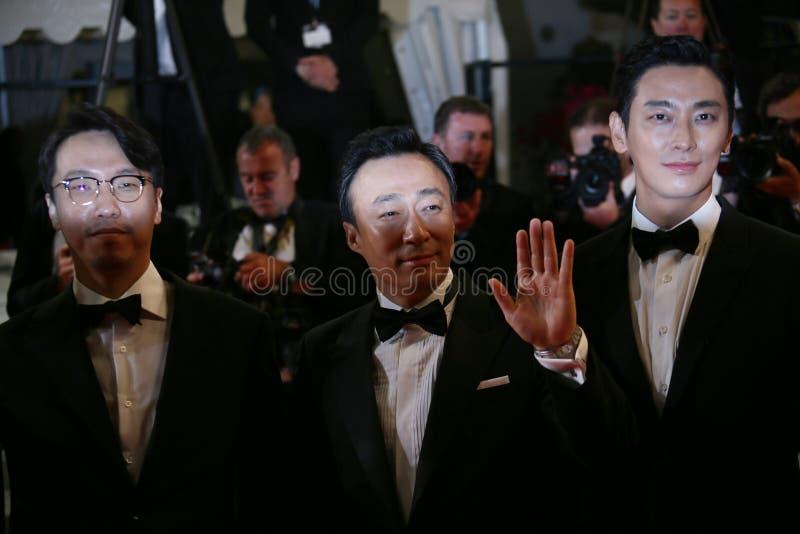 Jong-ящик Yoon, Петь-минута Ли, Ji-Hoon Ju стоковое изображение rf