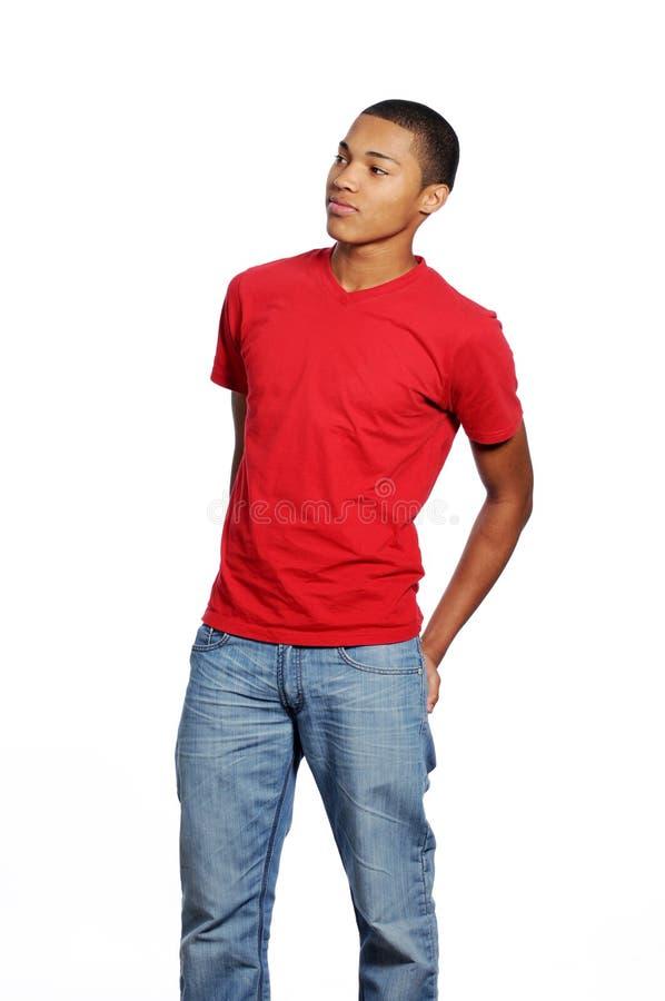 Jong Afrikaans Amerikaans Mannetje stock foto