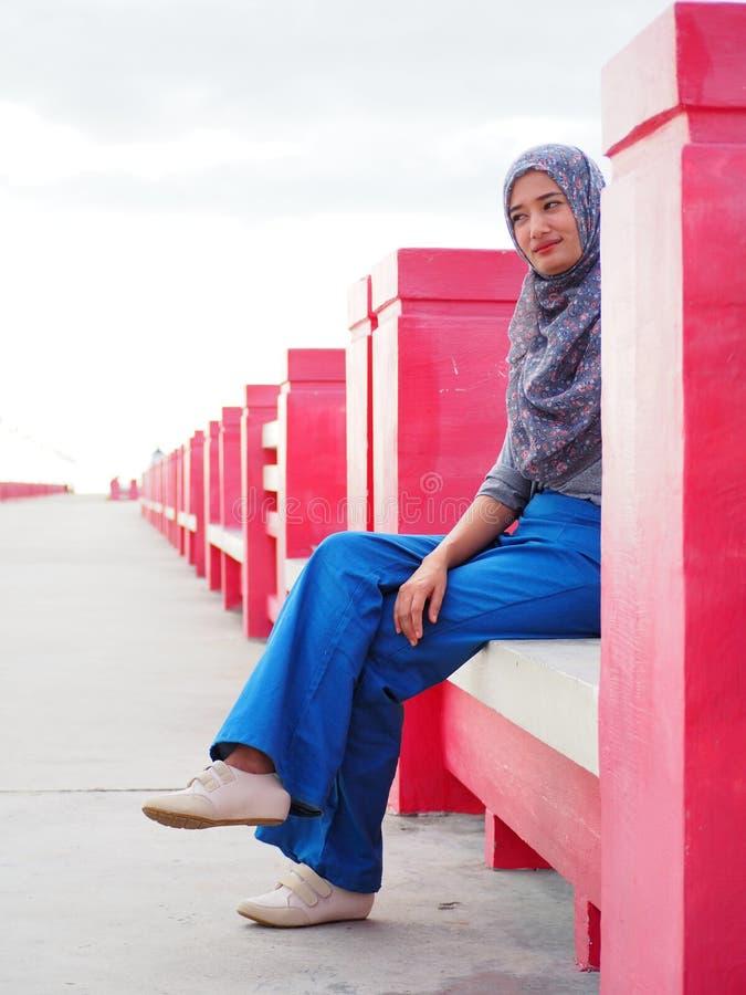 Jong Aziatisch moslimmeisje royalty-vrije stock foto's