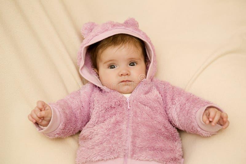 Jong babyportret stock afbeelding