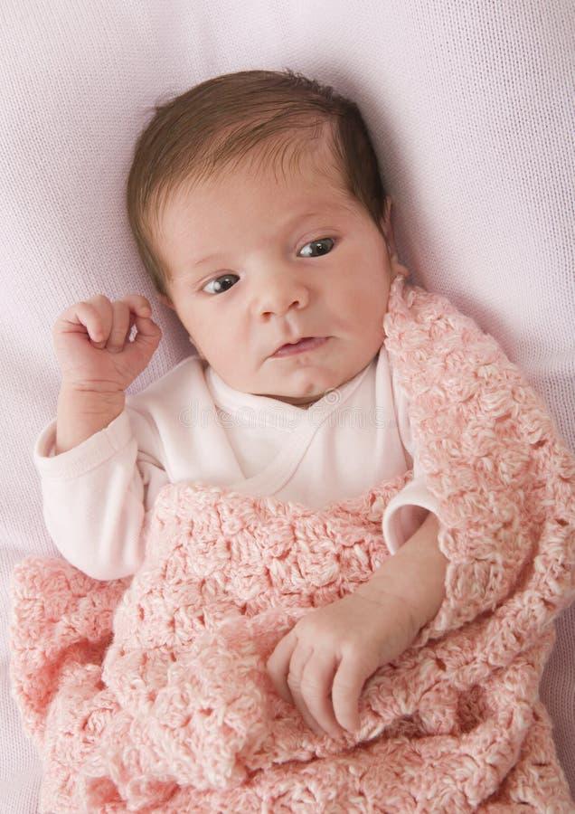 Jong babyportret royalty-vrije stock afbeelding