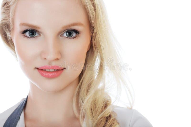 Jong blonde vrouwengezicht royalty-vrije stock afbeeldingen