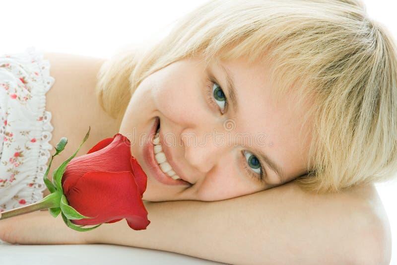 Jong de vrouwengezicht van de close-up stock afbeeldingen