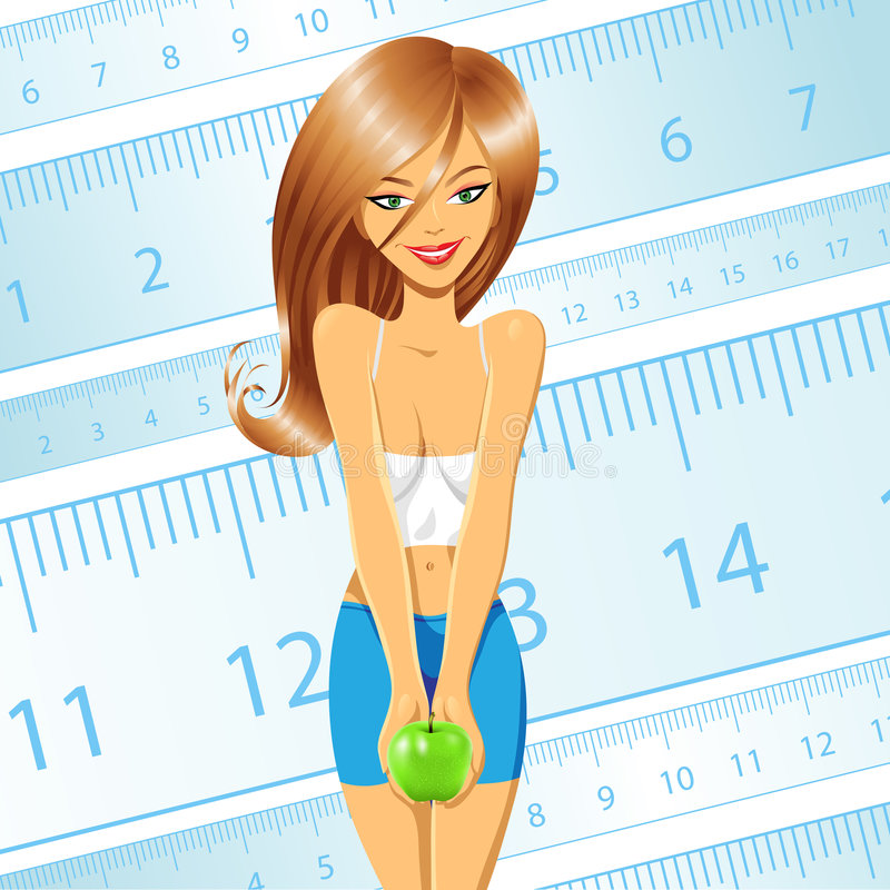 Jong dieetmeisje stock illustratie