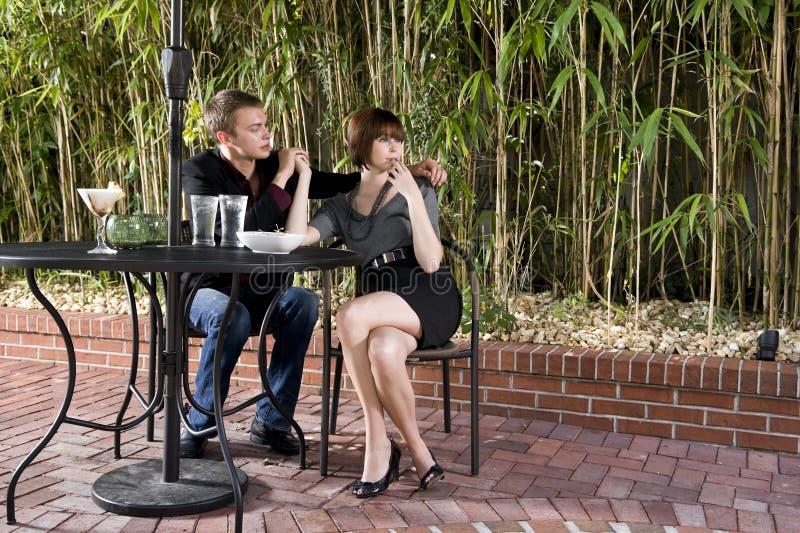 Flirten op terras