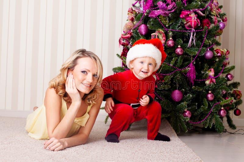 Jong geitje en moeder royalty-vrije stock foto