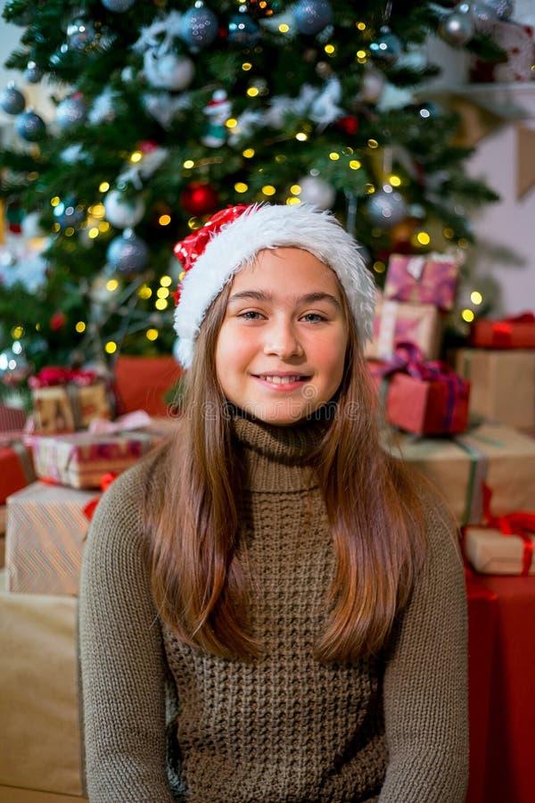 Jong geitje het vieren Kerstmis royalty-vrije stock fotografie