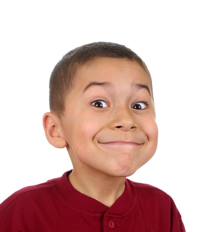 Jong geitje met grote glimlach royalty-vrije stock afbeelding