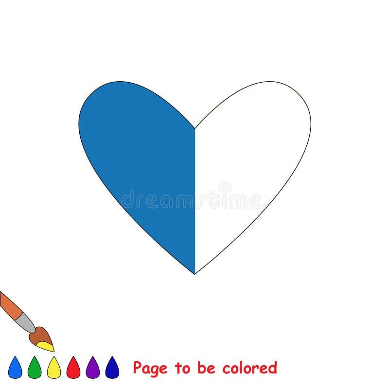Jong geitjespel dat door voorbeeld half moet worden gekleurd stock illustratie