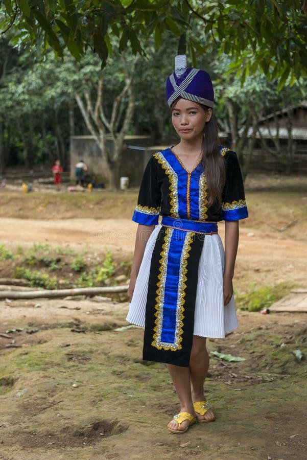 Jong Hmong-meisje stock foto