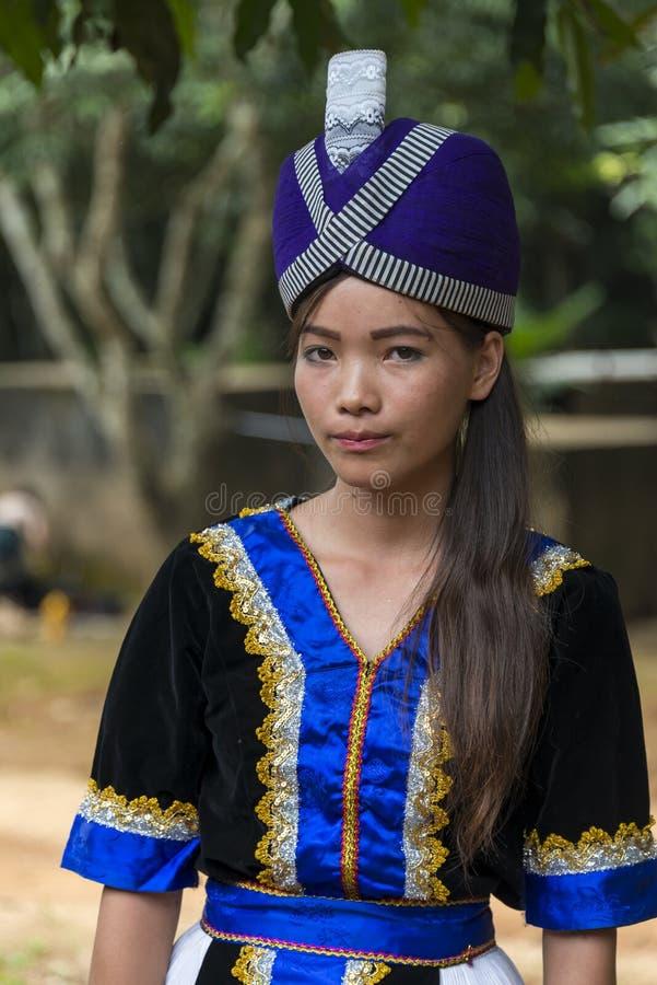 Jong Hmong-meisje stock foto's
