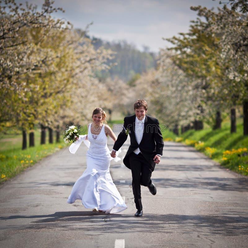 Jong huwelijkspaar royalty-vrije stock foto