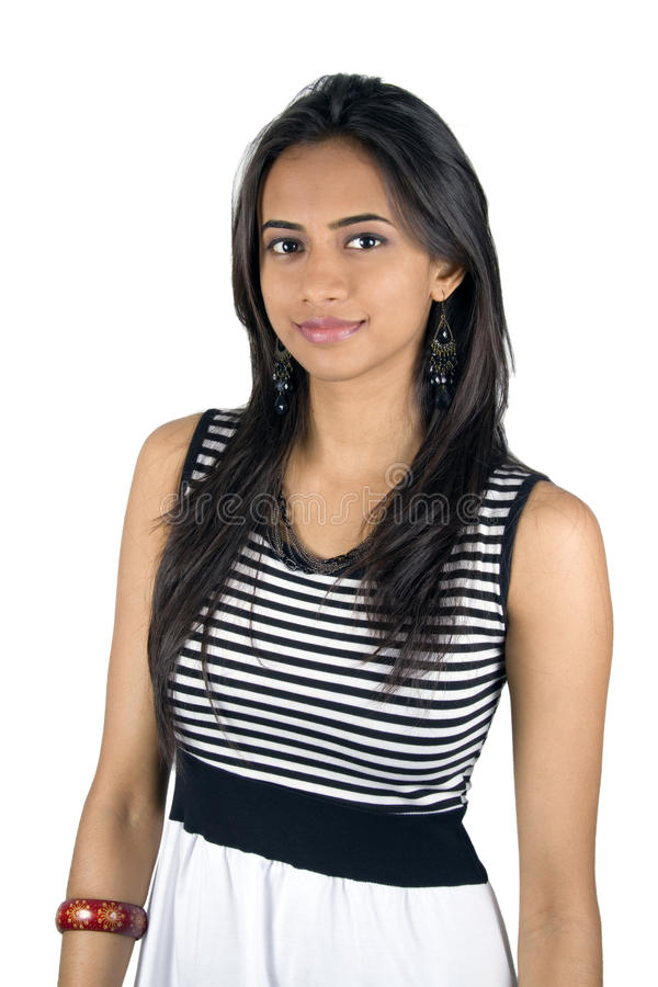 Jong Indisch meisje. royalty-vrije stock fotografie