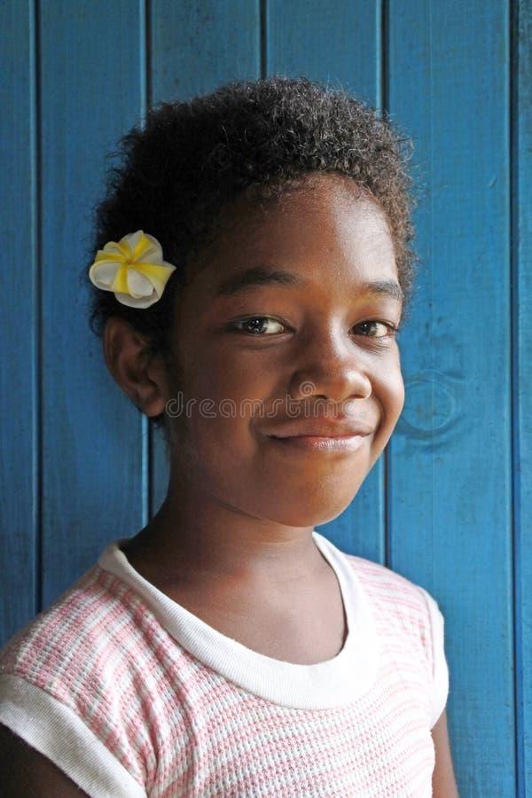 Jong Inheems Fijian-Meisje royalty-vrije stock afbeeldingen