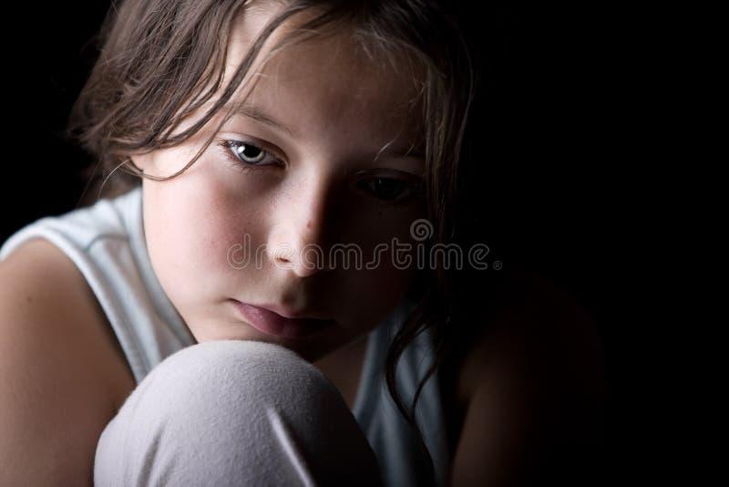 Jong Kind dat Droevig kijkt royalty-vrije stock foto