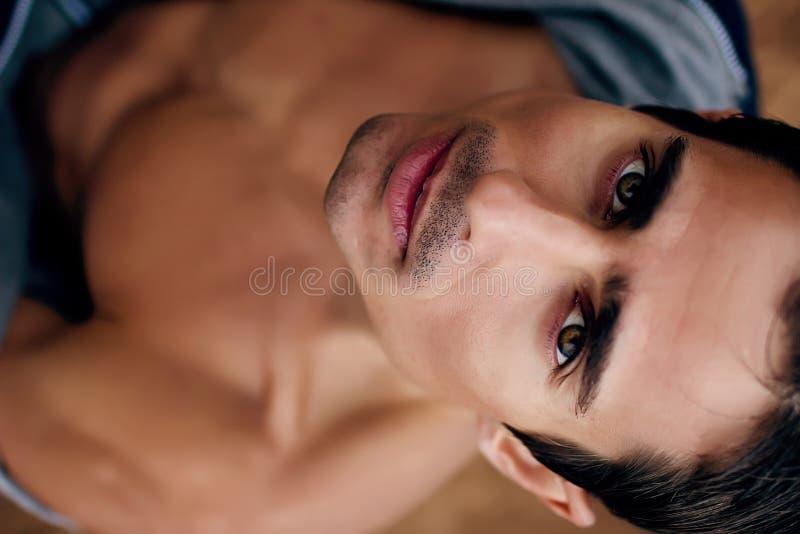 Jong man gezicht royalty-vrije stock afbeelding