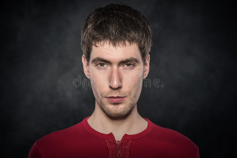 Jong man gezicht stock afbeelding