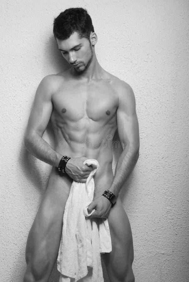 Jong mannelijk model royalty-vrije stock afbeelding