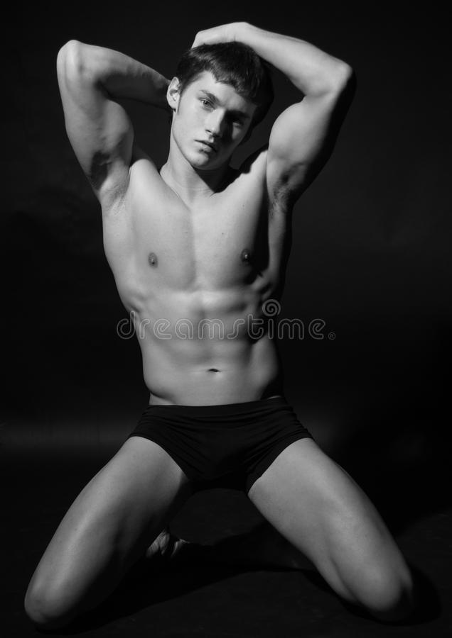 Jong mannelijk model stock afbeelding