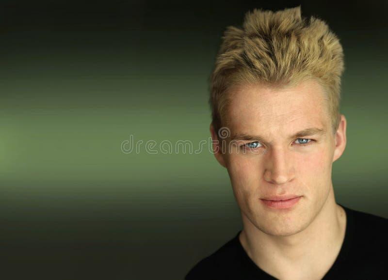 Jong mannelijk modelgezicht stock afbeeldingen