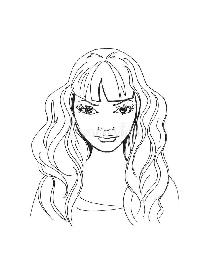 Jong meisje stock illustratie