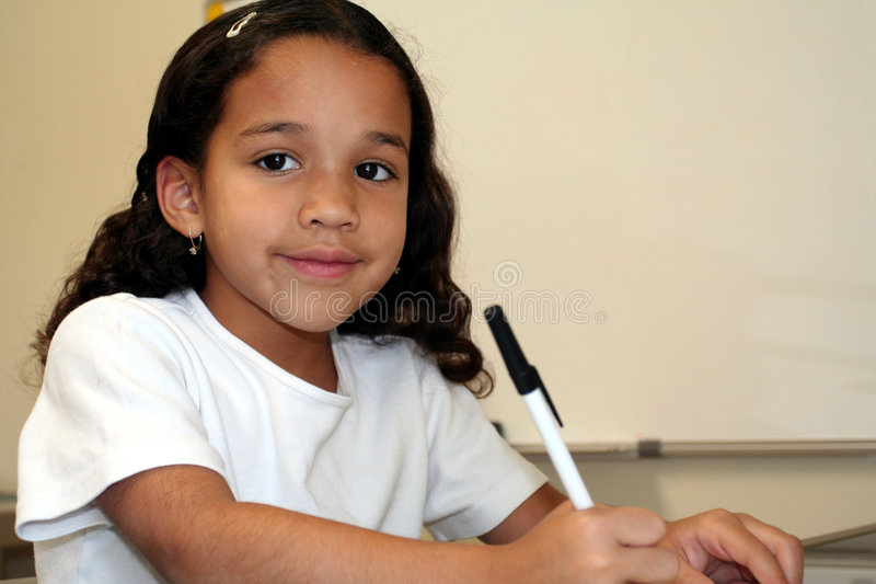 Jong Meisje op School royalty-vrije stock afbeeldingen