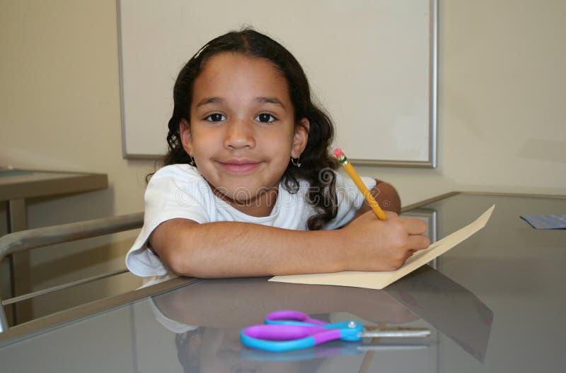 Jong Meisje op School stock fotografie