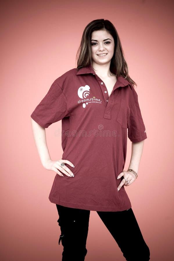 Jong meisje in overhemd Dreamstime stock foto