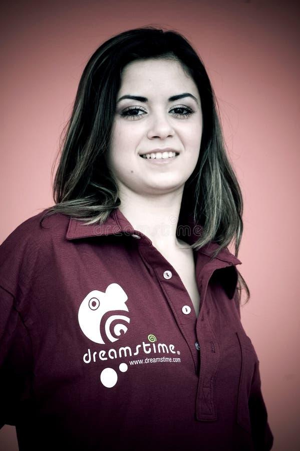 Jong meisje in overhemd Dreamstime royalty-vrije stock fotografie