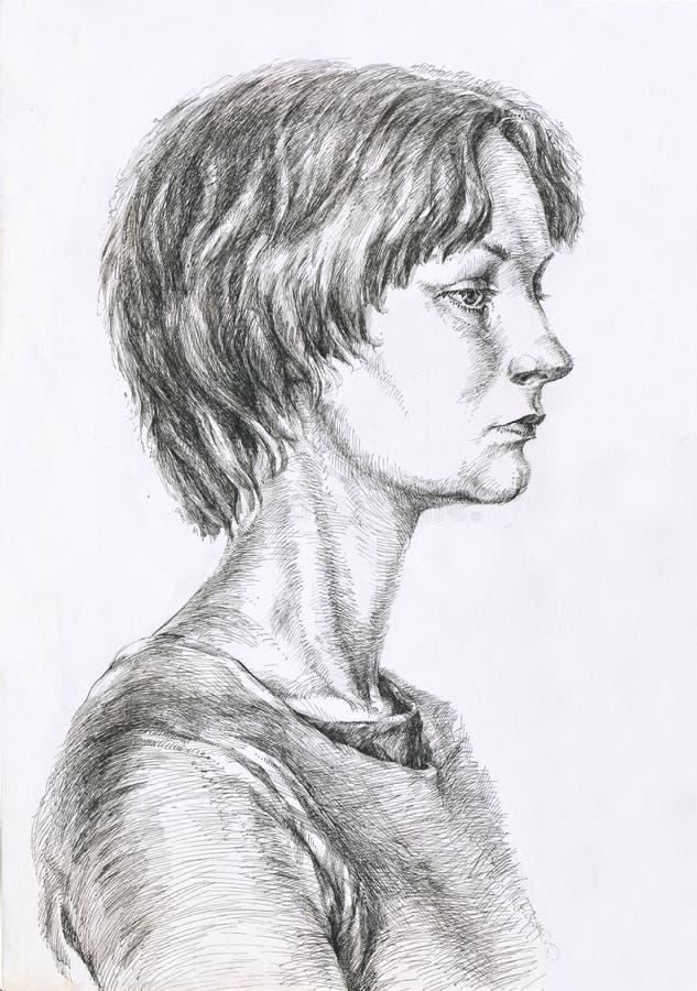 Jong meisje, tiener vector illustratie
