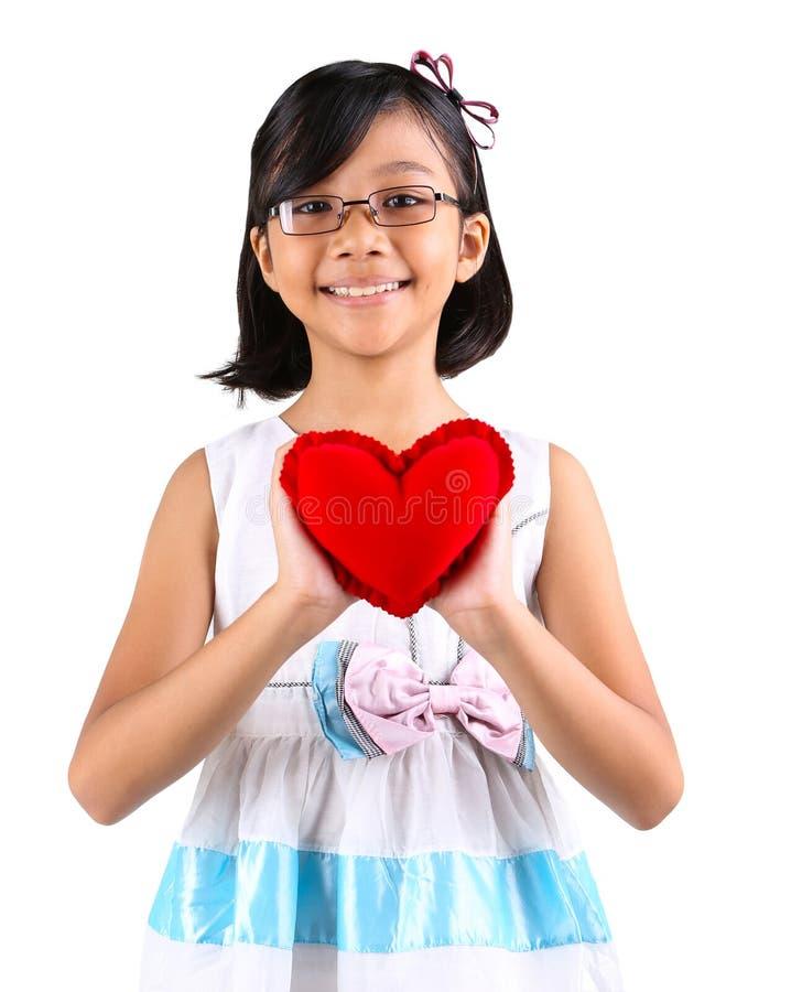 Jong Meisje Valentine I stock foto's